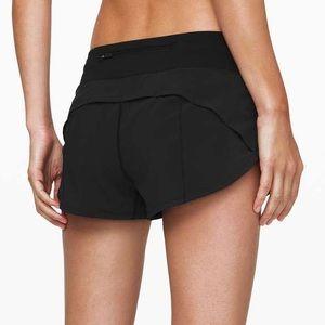 LULULEMON | Speed Up Shorts Low Rise Black Size 4